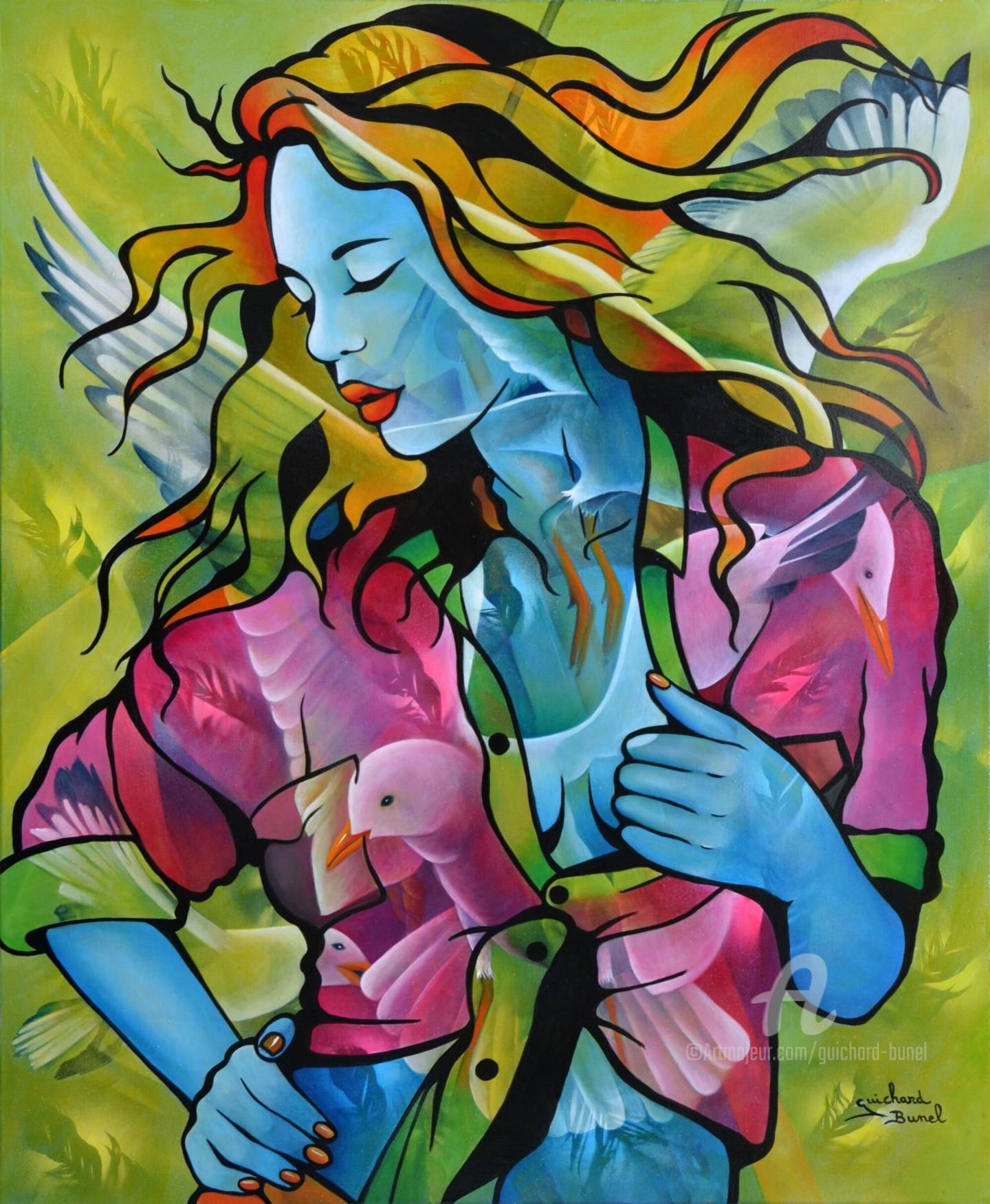 Jeannette Guichard-Bunel - dans un bruissement d'ailes..
