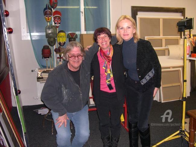 Jeannette Guichard-Bunel - avec le peintre  Ligismond et sa femme Verène
