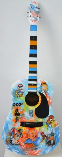 guitare peinte