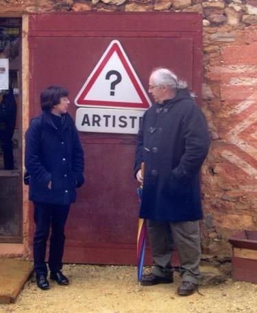 avec Van Den Berghe (sculpteur)