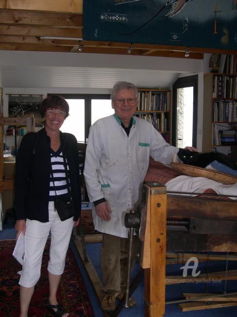 Jeannette Guichard-Bunel - avec B.Louedin (peintre)